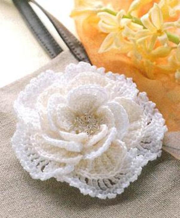 вязания крючком цветов.